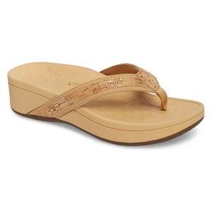 Vionic High Tide Wedge Flip Flop Sandals NWOT